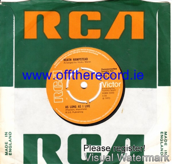 Heath Hampstead - Each & Every part of me - RCA 4180