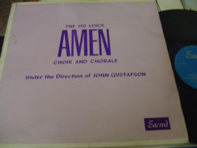 AMEN CHOIR - 130 VOICES - GUSTAFSON - SACRED { 1118