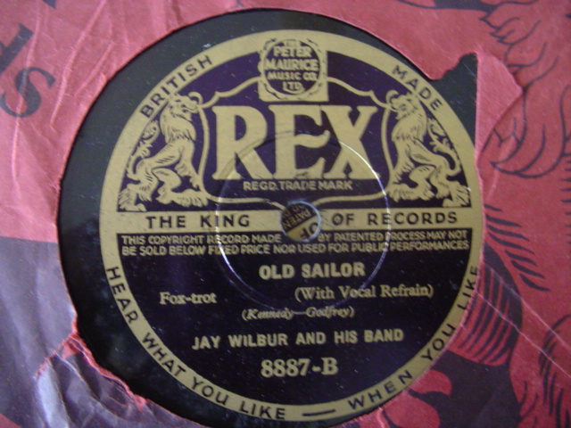 JAY WILBUR - OLD SAILOR - REX 8887 UK PRESSING