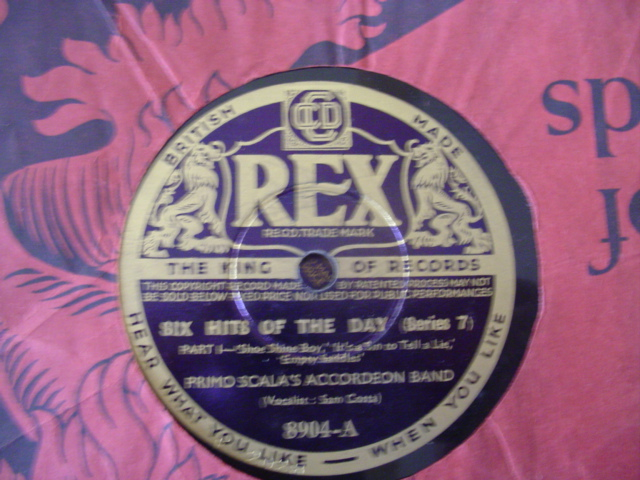 PRIMO SCALA ACCORDIAN BAND - SIX HITS - REX 8904
