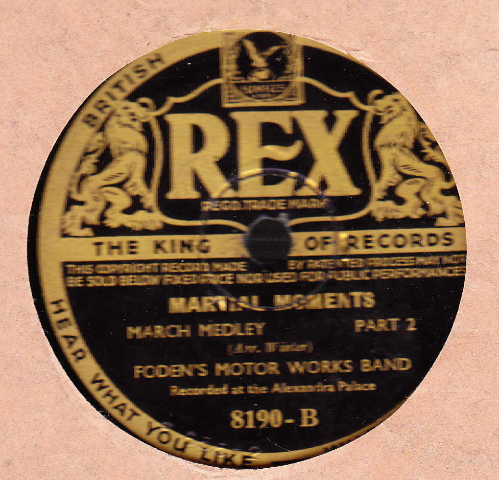 Fodens Motor Works Band - Martial Moments - Rex 8190