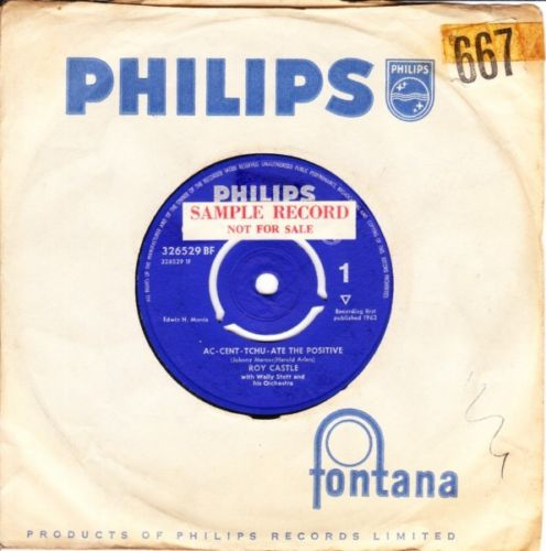 Roy Castle - Ac cent tchu ate the positive - Philips UK 3654