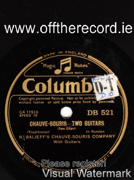Chauve Souris - N Balieff's - Two Guitars - Columbia DB 521