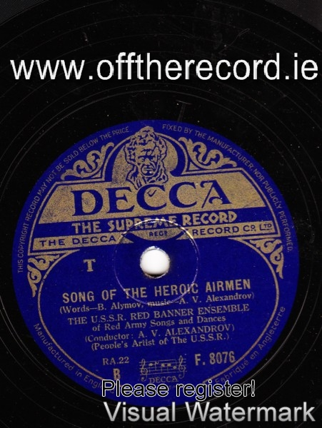 A.V. Alexandrov - U.S.S.R. Red Banner Enseble - Heroic - Decca