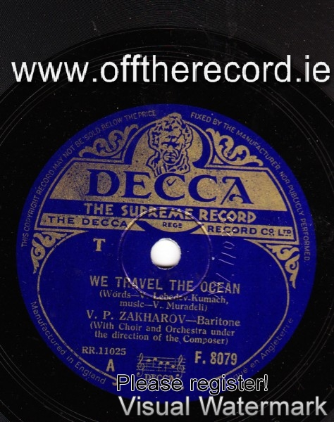 V.P. Zakharov - We travel the Ocean - Russian - Decca