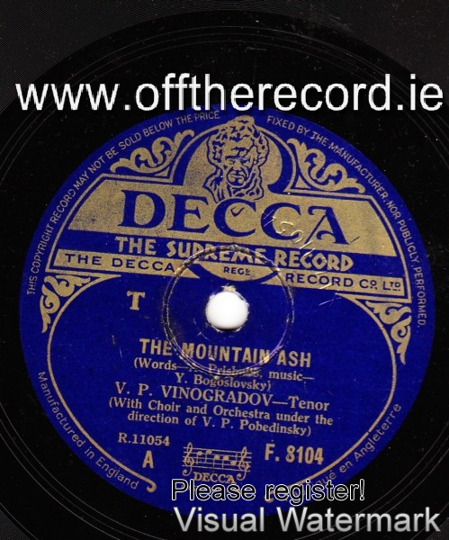 V.P. Vinogradov - The Mountain Ash - Russian - Decca