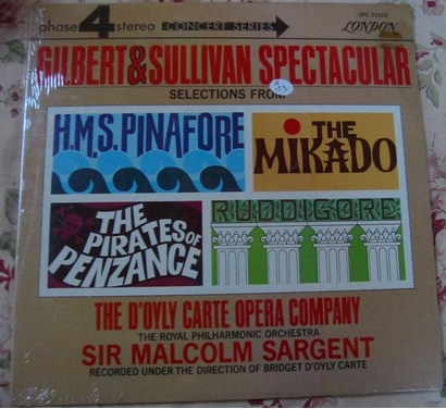 London Phase 4 - Gilbert & Sullivan - Sargent - Sealed 1960s