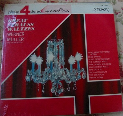 London Phase 4 - Strauss Waltzes - Werner Muller - Sealed 1960s