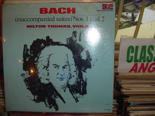 SEALED - BACH VIOLA 1 and 2 MILTON THOMAS / 407