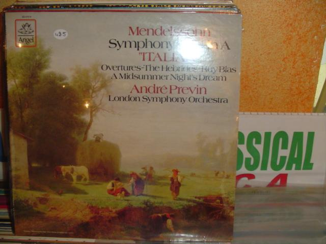 Mendelssohn - Symphony No 4 - Previn - Angel USA - sealed
