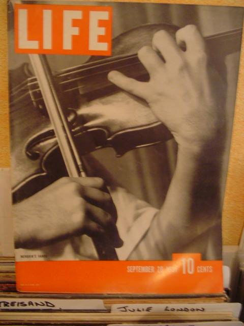 LIFE MAGAZINE - SEPTEMBER 20 1937 - MENUHIN HANDS