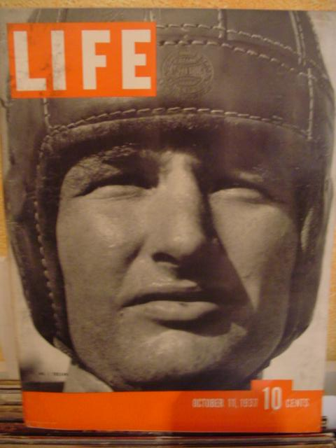 LIFE MAGAZINE - OCTOBER 11 1937 - TROJAN CHUCK WILLIAMS
