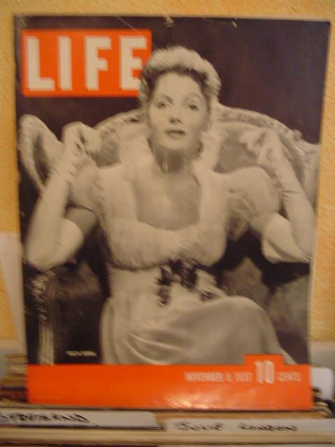 LIFE MAGAZINE - NOVEMBER 8 1937 - GRETA GARBO