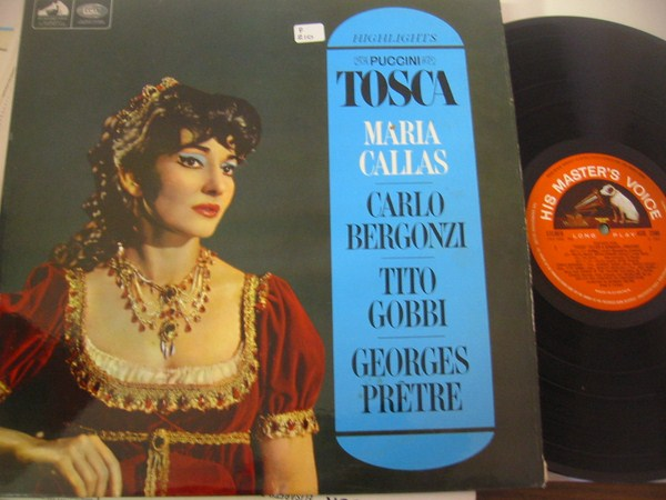 MARIA CALLAS - TOSCA HIGHLIGHTS - HMV ASD { F 210