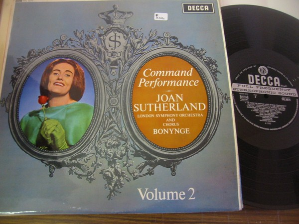 JOAN SUTHERLAND - COMMAND PERFORMANCE - DECCA SLX {F 206