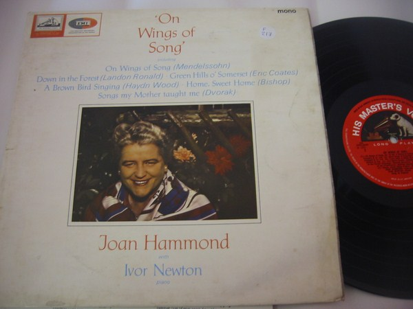 JOAN HAMMOND - ON WINGS OF SONG - HMV ALP{ F 217