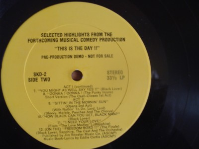 EDDIE CURTIS - THIS IS THE DAY - MUSICAL DEMO { J 1275
