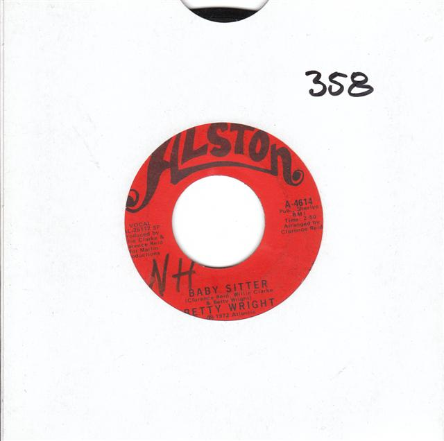 BETTY WRIGHT - BABY SITTER - ALSTON 4614 { 358