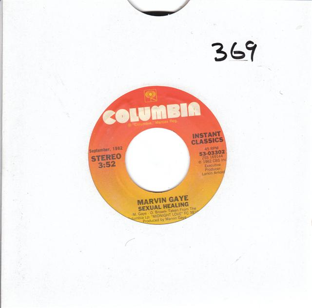 MARVIN GAYE - SEXUAL HEALING - COLUMBIA { 368