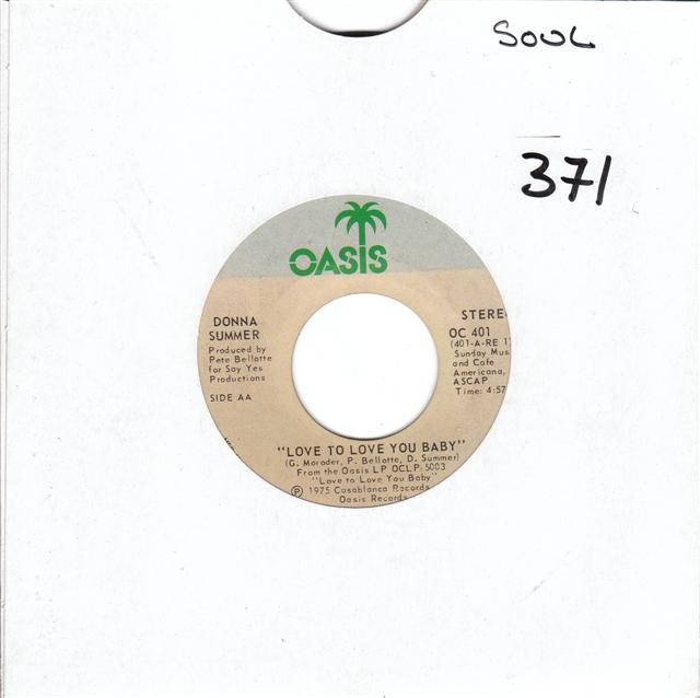 DONNA SUMMER - OASIS RECORDS 401 { 371