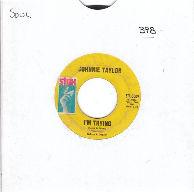 JOHNNIE TAYLOR - IM TRYING - STAX { 398
