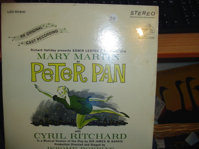 SEALED - BROADWAY PETER PAN RCA LSO 1019e / 59