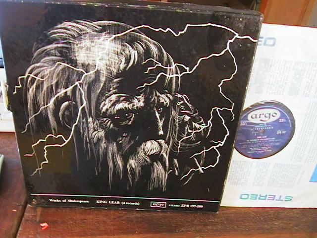 KING LEAR - SHAKESPEARE - ARGO 4LP SET