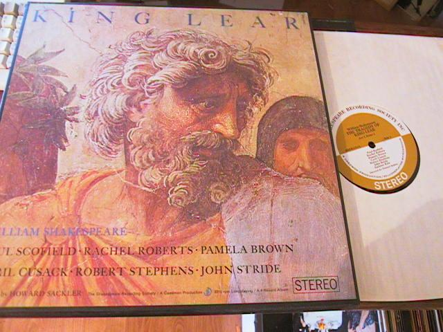 KING LEAR - SHAKESPEARE - SRS RECORDS 4LP SET