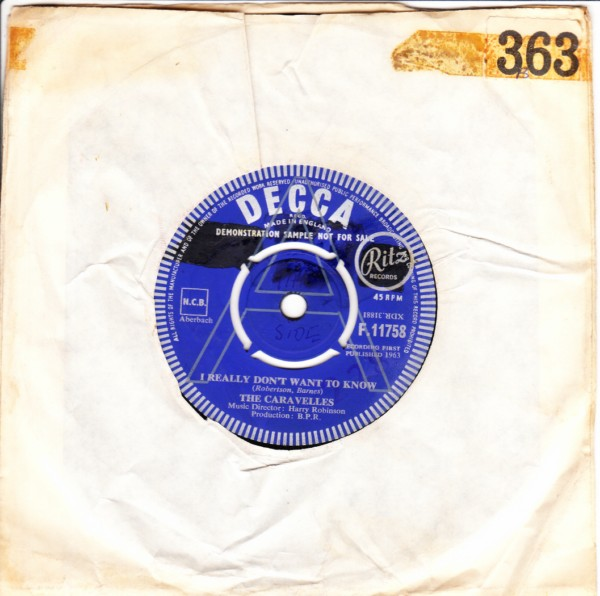 The Caravelles - I really dont want to know - Decca Demo 3403