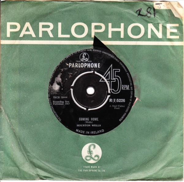 Houston Wells - Coming Home - Parlophone Irish 3413