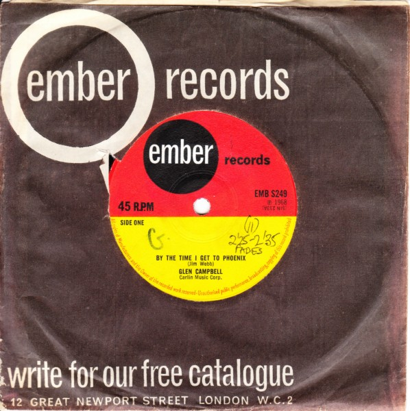 Glen Campbell - By the time I get to Phoenix - Ember 3428