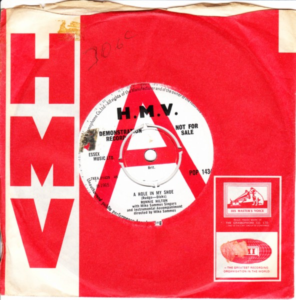 Ronnie Hilton - A hole in my shoe - HMV Demo 3444