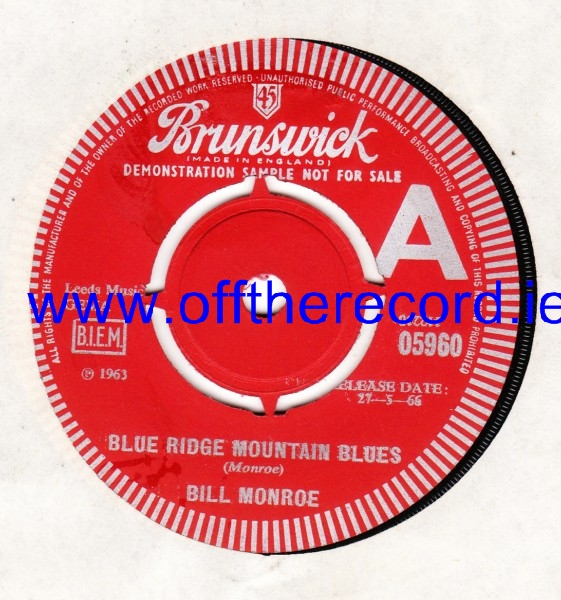 Bill Monroe - Blue ridge mountain Blues - Brunswick Demo 3465