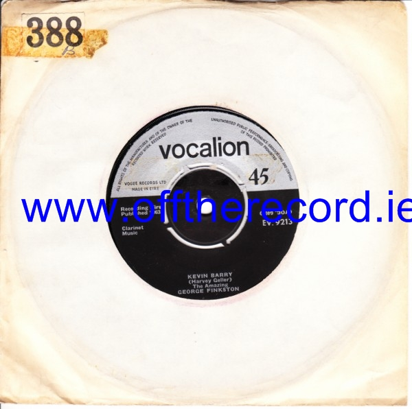 George Finkston - Kevin Barry - Vocalion Irish 3468
