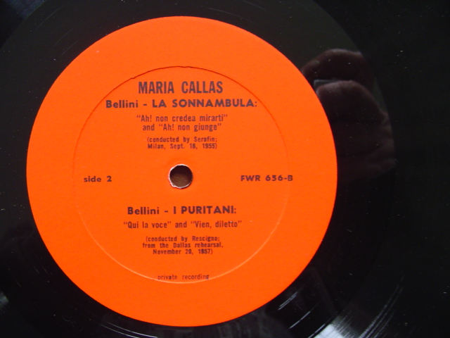 MARIA CALLAS - BELLINI SONNAMBULA - DALLAS 1957 PRIVATE