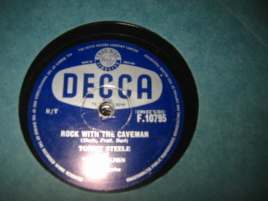 TOMMY STEELE - ROCK CAVEMEN - DECCA RARE 78 rpm