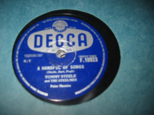 TOMMY STEELE - HANDFUL SONGS - DECCA RARE 78 rpm