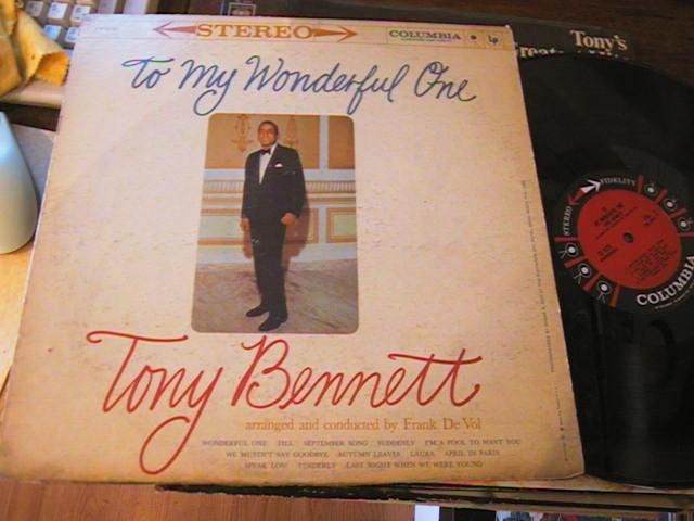 TONY BENNETT - MY WONDERFUL ONE - COLUMBIA - M 70