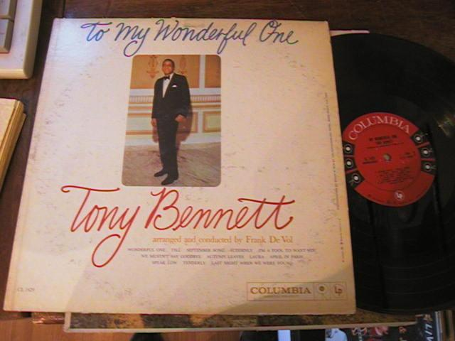 TONY BENNETT - MY WONDERFULL ONE - COLUMBIA - M 82