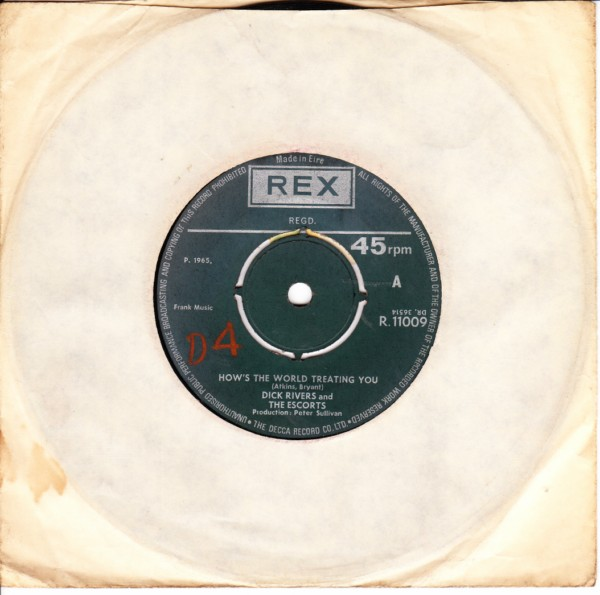 REX R.11009 - Dick Rivers & The Escorts - Doin the best I can