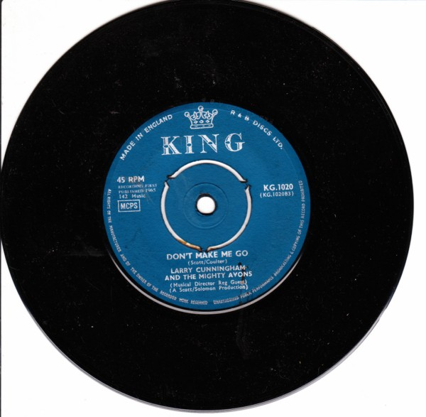 Larry Cunningham - Mighty Avons - King Records KG 1020