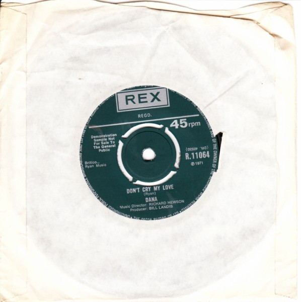 REX R.11064 - Dana - Don't cry my love