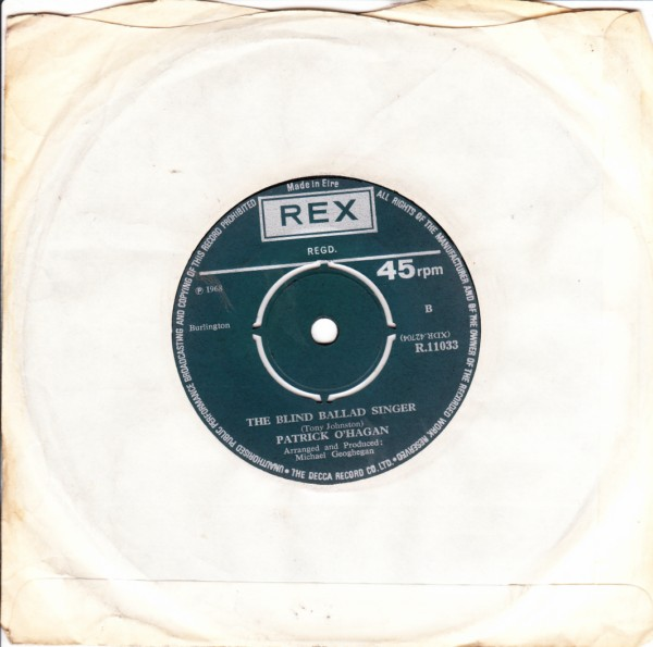 REX R.11033 - Patrick O'Hagan - I've just been back Erins