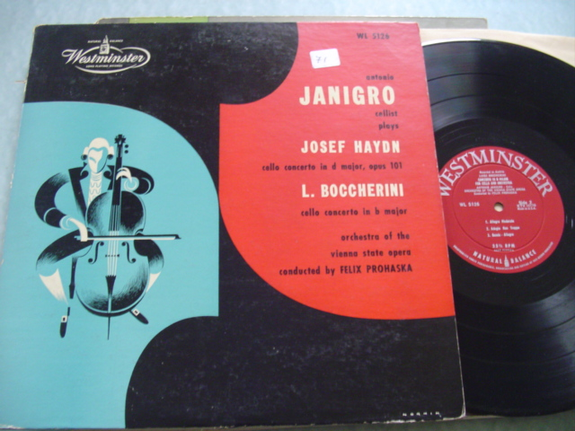 JANIGRO cello - HAYDN BOCCHERINI - WESTMINSTER WL