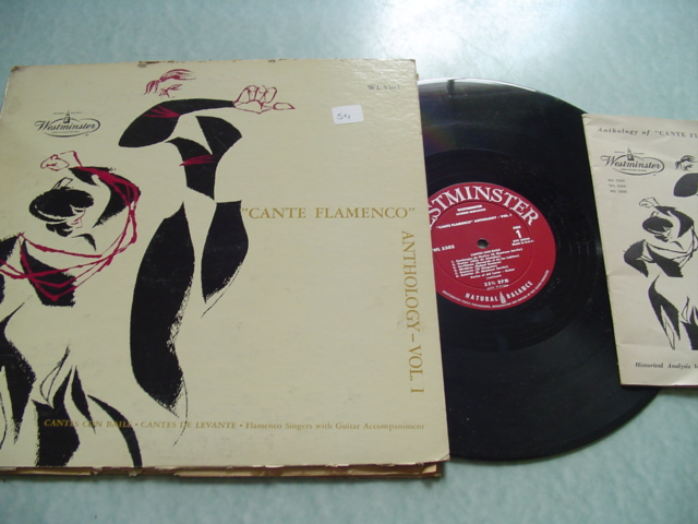 CANTE FLAMINCO - ANTHOLOGY VOL 1 - WESTMINSTER WL