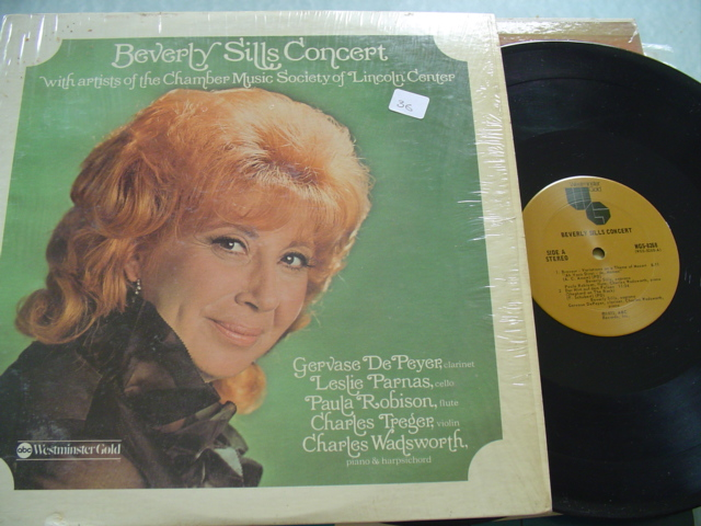 BEVERLY SILLS - CONCERT LINCOLN CENTER - WESTMINSTER