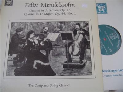 MENDELSSOHN - QUARTET IN D - COMPOSERS QUARTET - MHS