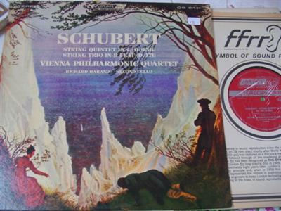 SCHUBERT - QUINTET & TRIO - VIENNA QUARTET - LONDON