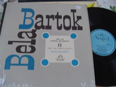 BARTOK - SIX QUARTETS - VEGH QUARTET - ANGEL