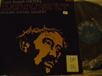 HAYDN - SEVEN LAST WORDS - AEOLIAN QUARTET - SAGA